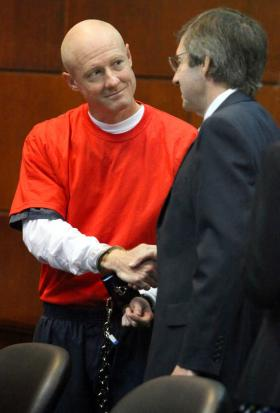 Justin Barber and William Mallory Kent Shaking Hands at Evidentiary Hearing May 4, 2012